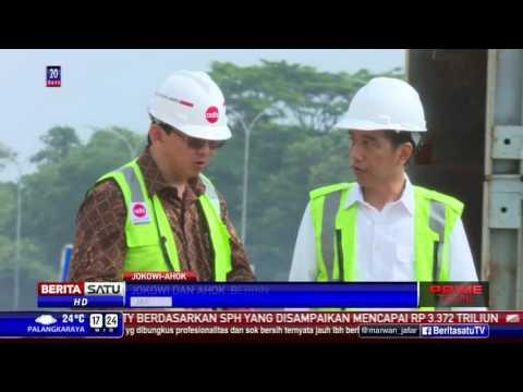 Tinjau MRT Dan LRT, Jokowi-Ahok Tampak 'Mesra'