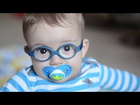 Baby Luke's reaction to wearing glasses for the first time!