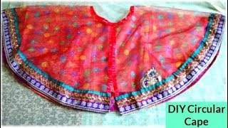 DIY: Convert or Reuse old SAREE into Cape or JACKET | Learning Process