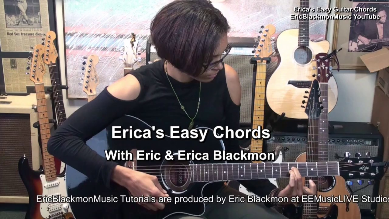 Cmaj7 Ericas Easy Chords On Guitar 7 Ericblackmonmusichd Tabs