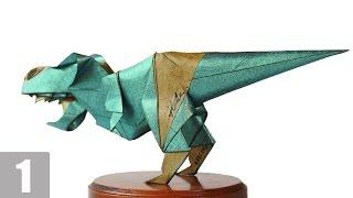 Part1/3 : How to fold Origami T-Rex 摺紙暴龍教學 (Kade Chan) [Transformers/Grimlock/變形金剛/鋼鎖]
