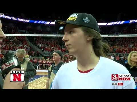Nebraska volleyball celebrates National Championship