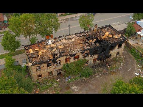 Этой ночью сгорели три дома в центре Самары (3 июня 2021)