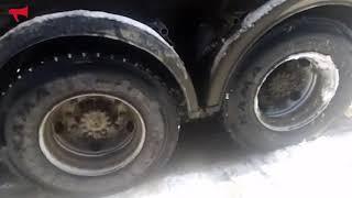 Грузовики буксуют из за плохой очистки дорог
