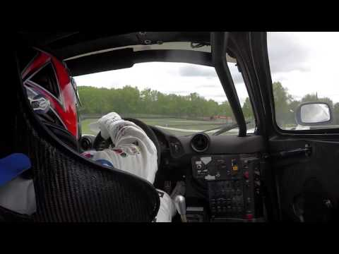 BMW Driver Bill Auberlen drives the McLaren F1 GTR at Mid-Ohio - In car