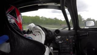 BMW Driver Bill Auberlen drives the McLaren F1 GTR at Mid-Ohio - In car