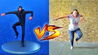 FORTNITE DANCE CHALLENGE with ADLEY!!  (mostly fails)
