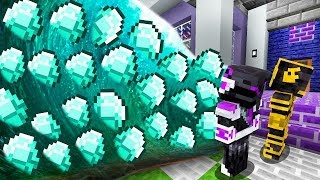 ¡TSUNAMI DE DIAMANTES DESTRUYE MI CASA EN MINECRAFT! 💎 ¡DIAMANTES INFINITOS!