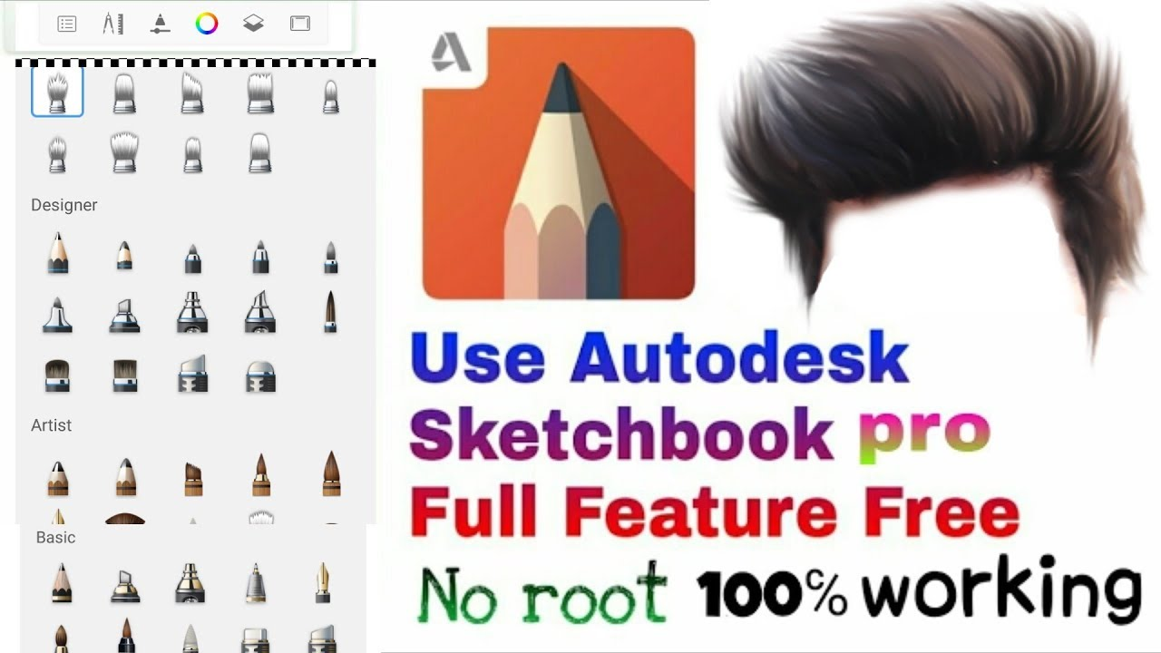 Download autodesk sketchbook pro 2017 // full version free in Android mobile