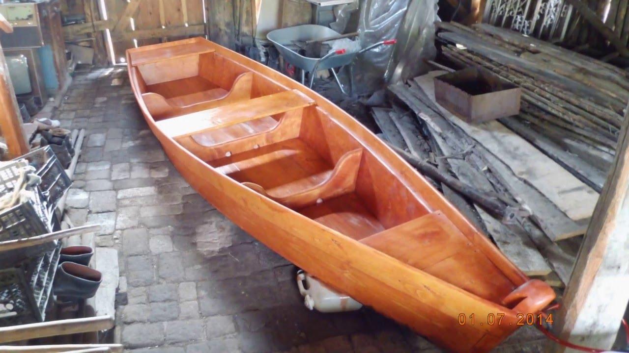 Деревянная лодка 3 года эксплуатации