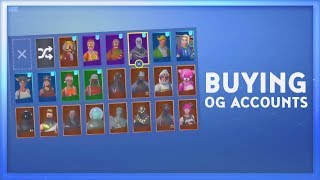 BUYING OG FORTNITE ACCOUNTS! (YOU WON'T BELIEVE WHAT I GOT)