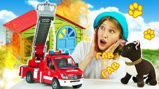 Пожарная машина едет в гости к Шоколадке | Видео для детей Как мама