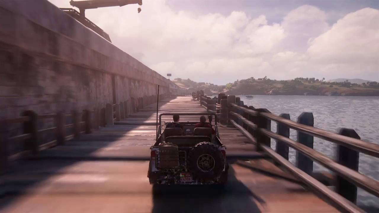 Uncharted 4 A Thief S End Crazy Car Chase Scene No Bullets Wtf