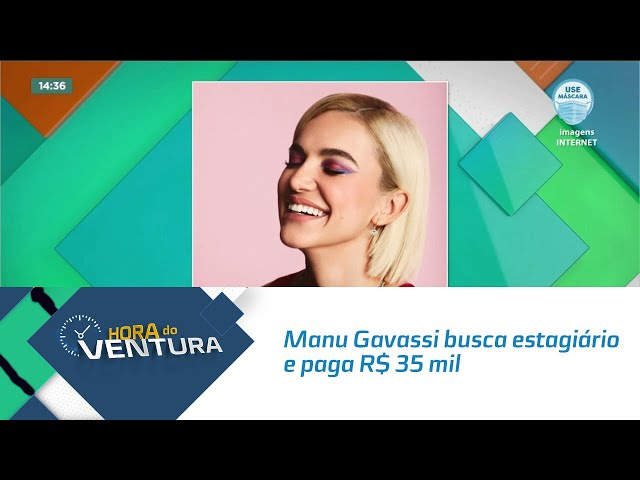 Manu Gavassi busca estagiário para receber R$ 35 mil