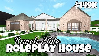 Ranch-Style Roleplay House (149k)   Bloxburg House Tour   Roblox