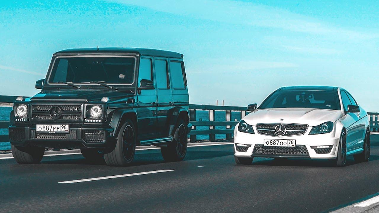 Какая МАКСИМАЛКА у ГЕЛИКА?! - Mercdes-Benz G55 vs Mercedes-Benz C63 - Два брутальных AMG!