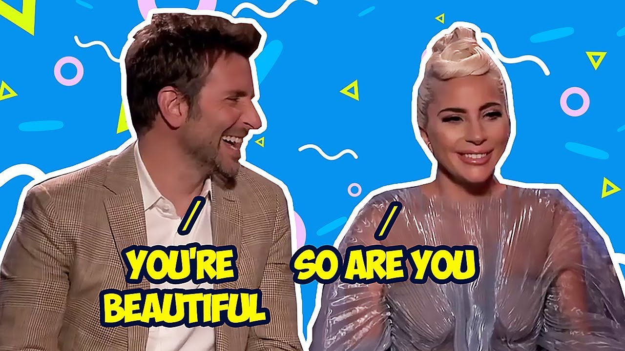 Bradley Cooper Can't Keep His Eyes Off Lady Gaga image