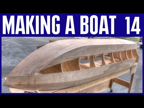How to Build a Small Wooden Boat #14 Not Using Marine Plywood - Electric Powered Mini Boat