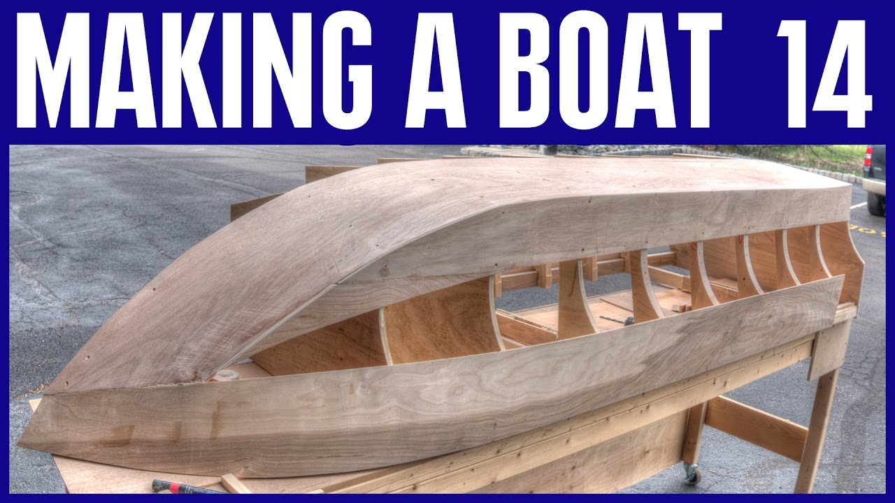 How to Build a Small Wooden Boat #14 Not Using Marine Plywood - Electric Powered Mini Boat - YouTube
