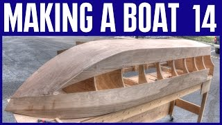 How to Build a Small Wooden Boat #14 Not Using Marine Plywood - Electric Powered - Underside Hull