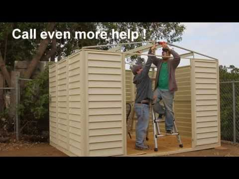 How to build a shed in under 3 min!