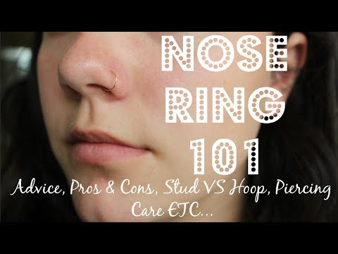 NOSE PIERCING 101   Advice, Pros & Cons, Stud VS Hoop, Care + PHOTOS