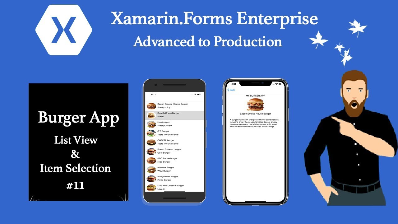XAMARIN FORMS List View Item Selected towards Detail Page MVVM First #11