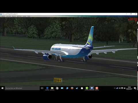 FSX: take-off from guadeloupe