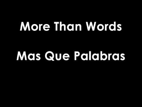 Extreme - More Than Words Subtitulado Ingles - Español