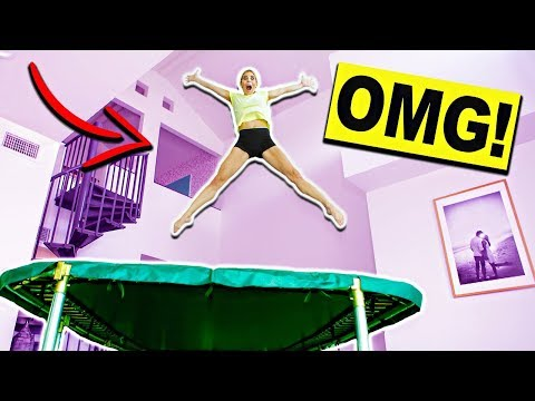 Giant Trampoline Inside My House! Ultimate Truth Or Dare