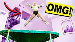 Скачать Giant Trampoline Inside My House Ultimate Truth Or Dare Challenge
