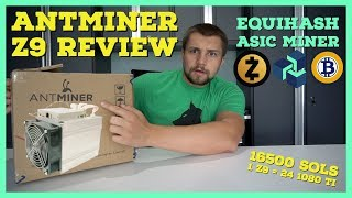 Antminer Z9 Review - Equihash ASIC Miner = 24 1080 TI Mining @ 342 Watts?!