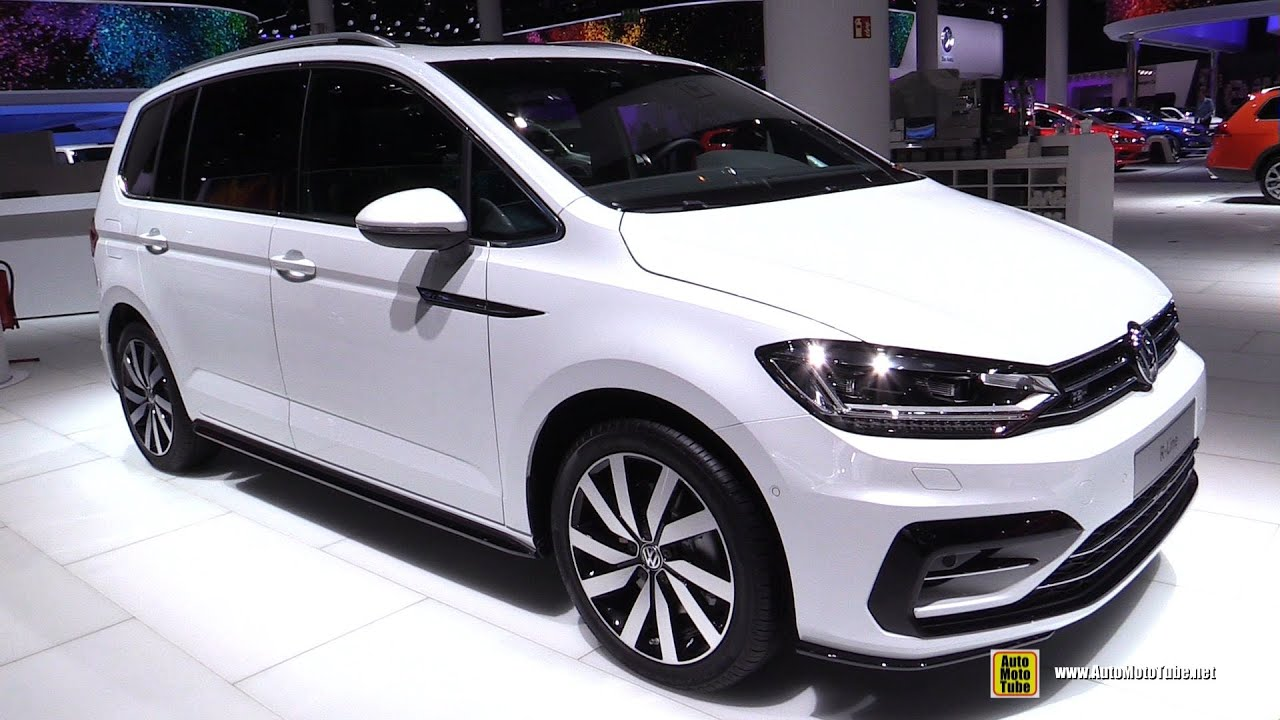 2016 volkswagen touran 2 0 tdi r line exterior walkaround 2015 frankfurt motor show youtube. Black Bedroom Furniture Sets. Home Design Ideas