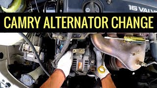 2005 Toyota Camry Alternator Replacement 2AZFE - Step by Step Full Walkthrough