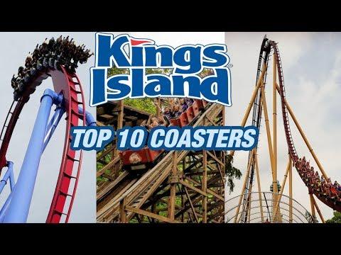 TOP 10 Roller Coasters at Kings Island! (2017)