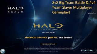 Halo: Reach PC! 8v8 Big Team Battle and 4v4 Slayer Multiplayer Gameplay! MCC Insider Flight 3- 60FPS