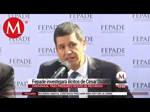 Fepade atrae caso César Duarte por presunto desvío