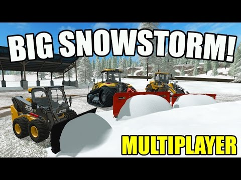 FARMING SIMULATOR 2017 | BIG SNOW STORM PLOWING | MULTIPLAYER