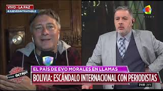 Periodistas argentinos refugiados en la embajada Argentina