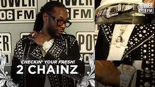 2 Chainz Has RACKS Of Money Hanging Out Of His Yves Saint Laurent Leather Pants