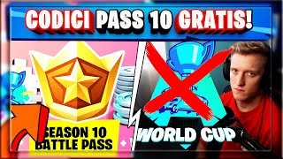 BATTLE PASS CODES 10 GRATUIT! 2000 VBUCKS ET SPRAY! TFUE POUR LA COUPE DU MONDE! (SAISON 9 FORTNITE)