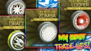 MY BEST TRADE UPS   WHITE ZOMBAS, CRIM LOOPERS, LIME DRACOS AND MORE!   Rocket League