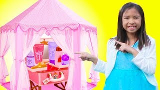 Wendy Pretend Play MAKEUP Makeover with Pink Tent Toy