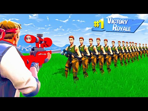 HOW MANY PLAYERS Can 1 BULLET Kill in Fortnite Battle Royale