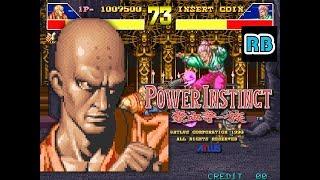 1993 [60fps] Power Instinct 1044800pts Thin Nen ALL