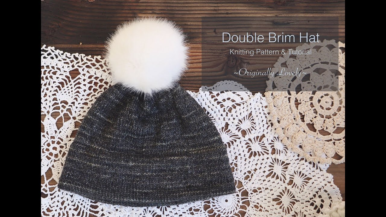 Double Brim Hat Tutorial || Learn to Knit a Foldover Hem - YouTube