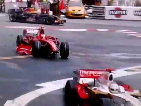 Kimi Räikkönen crash in Monaco 2008
