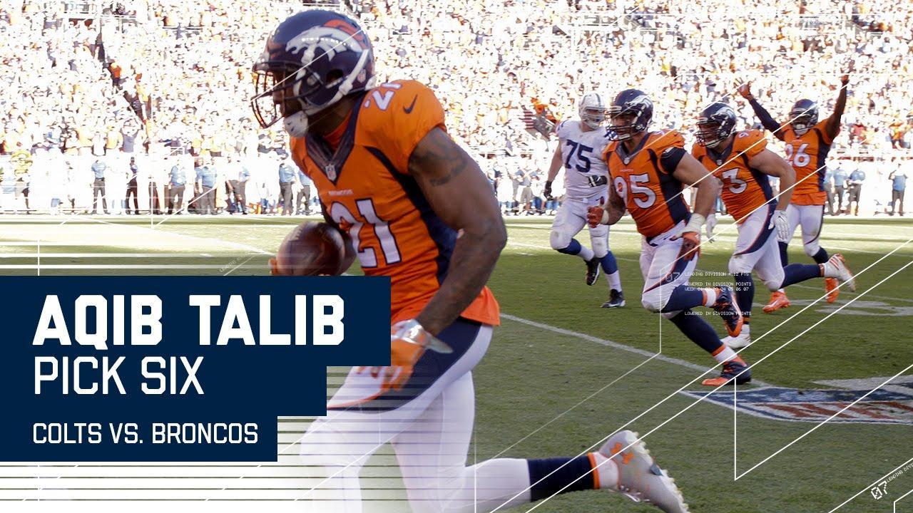 Aqib Talib s Incredible Pick 6 Colts vs Broncos