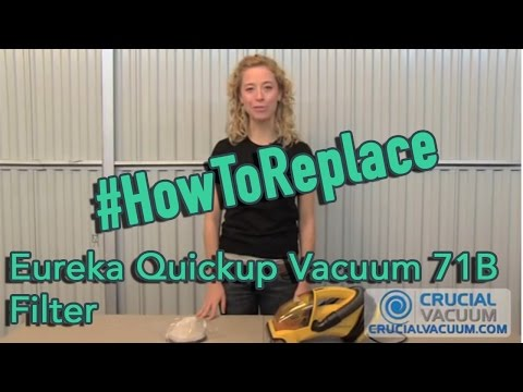Eureka Quickup Vacuum 71B Filter Replacement & Wash: Part # 39657