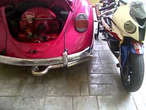 Vw Beetle Test >> vw beetle exhaust sound - YouTube